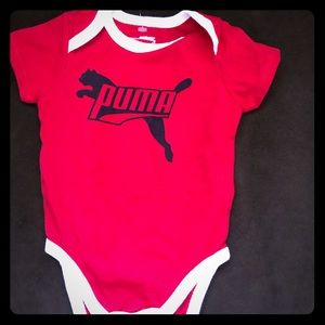 New Red Puma onesie size 3-6mth